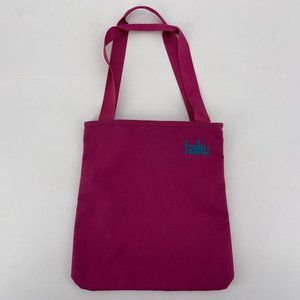 Haiku Purple Canvas Tote Handbag Purse